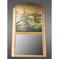 Большое зеркало Трумо в стиле Людовика XIV
