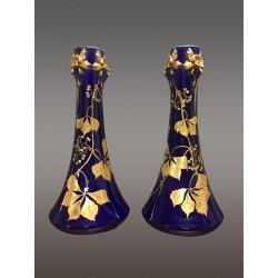 Пара больших фарфоровых ваз в стиле ар-нуво