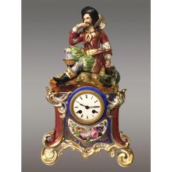 Фарфоровые часы 1830 года в стиле Джейкоба Пети