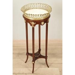 Пьедестал стол Наполеон III Красное дерево Золотые бронзы