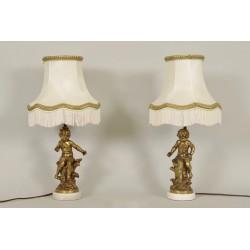 Пара ламп подписана Моро