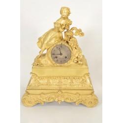 Часы Чарльз X Золотая бронза