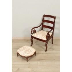 Детское кресло и подножка XIX века