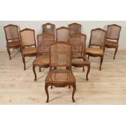 Suite de dix chaises style Louis XV