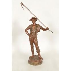 """Скульптура из бронзы """"Le Soir"""" Марселя Дебюта."""