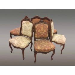 Люкс из шести стульев в стиле Людовика XV