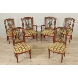 """Кресла и стулья в стиле """"Империя""""."""