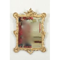 Зеркало из позолоченного дерева в стиле Людовика XV Наполеон III